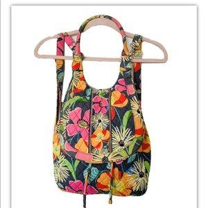 Vera Bradley Jazzy Blooms Floral  Backpack Tote